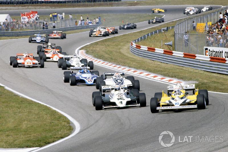 1981: René Arnoux, Renault RE30, Alan Jones, Williams FW07C-Ford Cosworth, Nelson Piquet Brabham, BT49C-Ford Cosworth, Jacques Laffite, Ligier JS17-Matra
