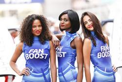 Fan Boost grid girls