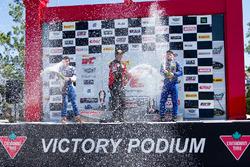 GTS Podium: race winner Jade Buford, Racers Edge Motorsports, second place Ernie Francis Jr., PF Racing, third place Lawson Aschenbach, Blackdog Speed Shop