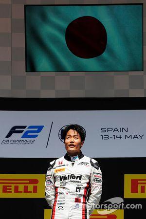 Podium : le vainqueur Nobuharu Matsushita, ART Grand Prix