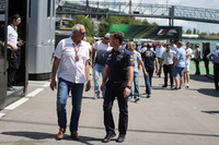 Dietrich Mateschitz, CEO and Founder of Red Bull and Christian Horner, Red Bull Racing Team Principal