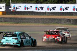 Джеймс Нэш, Lukoil Craft-Bamboo Racing, SEAT León TCR, и Роб Хафф, Leopard Racing Team WRT, Volkswag