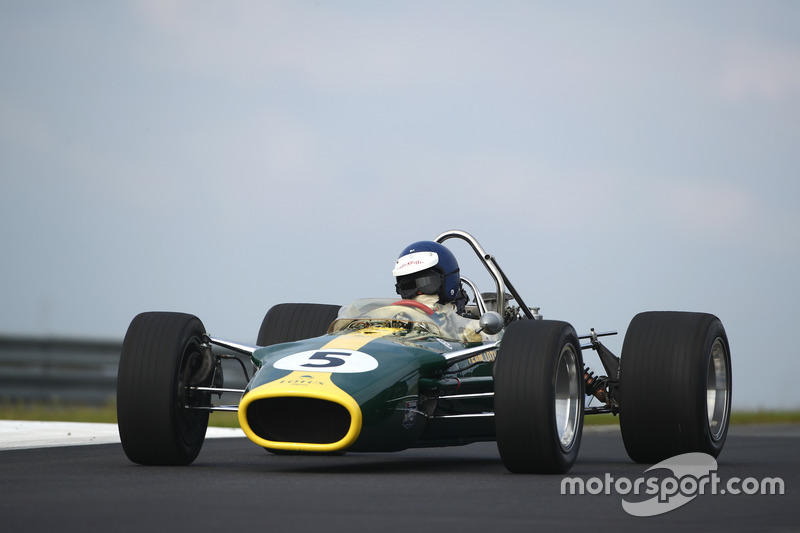 Demonstratie van Chris McAlister, Lotus 49