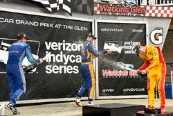 Scott Dixon, Chip Ganassi Racing Honda, Alexander Rossi, Curb Herta - Andretti Autosport Honda y Rya