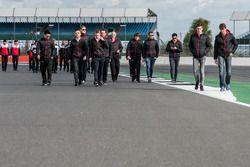 DC Racing Oreca team members during track walk