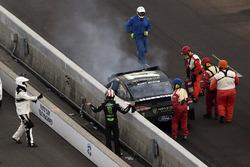Kurt Busch, Stewart-Haas Racing Ford wreck