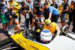 Nico Hülkenberg, Renault Sport F1 Team, mit Alain Prost, Renault RE40