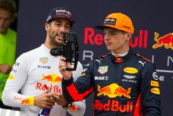 Daniel Ricciardo, Red Bull Racing and Max Verstappen, Red Bull Racing celebrate
