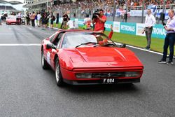 Sebastian Vettel, Ferrari en el desfile