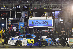 Michael McDowell, Leavine Family Racing Chevrolet, makes a pit stop