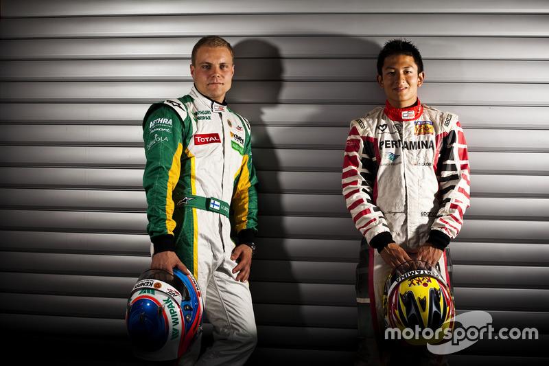 Valtteri Bottas, Lotus ART, dan Rio Haryanto, Marussia Manor