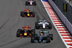 Lewis Hamilton, Mercedes AMG F1 W08 and Max Verstappen, Red Bull Racing RB13