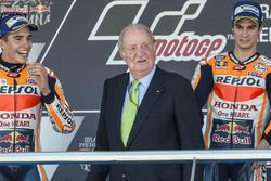 Podium: Race winner Dani Pedrosa, Repsol Honda Team, second place Marc Marquez, Repsol Honda Team, f