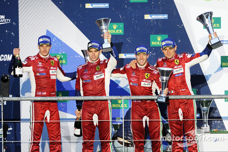 Podium LMGTE Pro: first place Davide Rigon, Sam Bird, AF Corse, second place James Calado, Alessandro Pier Guidi, AF Corse