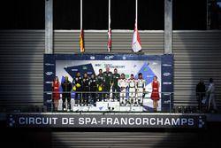 Podio LMGTE Am: al primo posto Paul Dalla Lana, Pedro Lamy, Mathias Lauda, Aston Martin Racing, al s