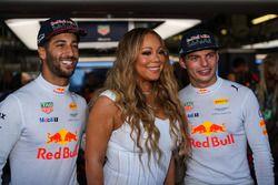 Daniel Ricciardo, Red Bull Racing y Max Verstappen, Red Bull Racing con Mariah Carey