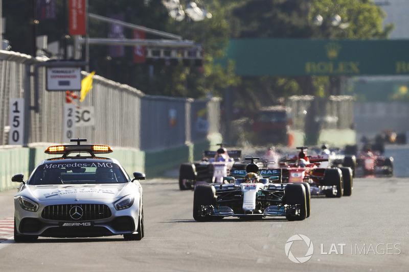 A entrada do Safety Car durante o GP do Azerbaijão, no entanto, mudou a história.