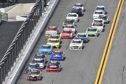 Ty Dillon, Richard Childress Racing Chevrolet, Ben Kennedy, GMS Racing Chevrolet