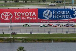 Daniel Suárez, Joe Gibbs Racing Toyota, Ryan Reed, Roush Fenway Racing Ford, Blake Koch, Kaulig Raci
