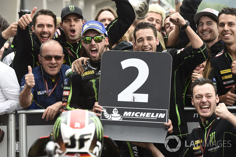 Second place Jonas Folger, Monster Yamaha Tech 3