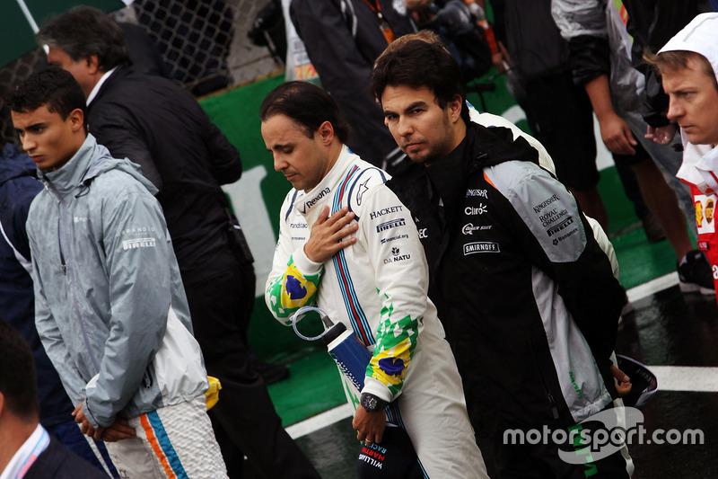 Felipe Massa, Williams as the grid observes the national anthem