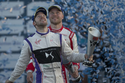 Podium: second place Sam Bird, DS Virgin Racing; third place Felix Rosenqvist, Mahindra Racing