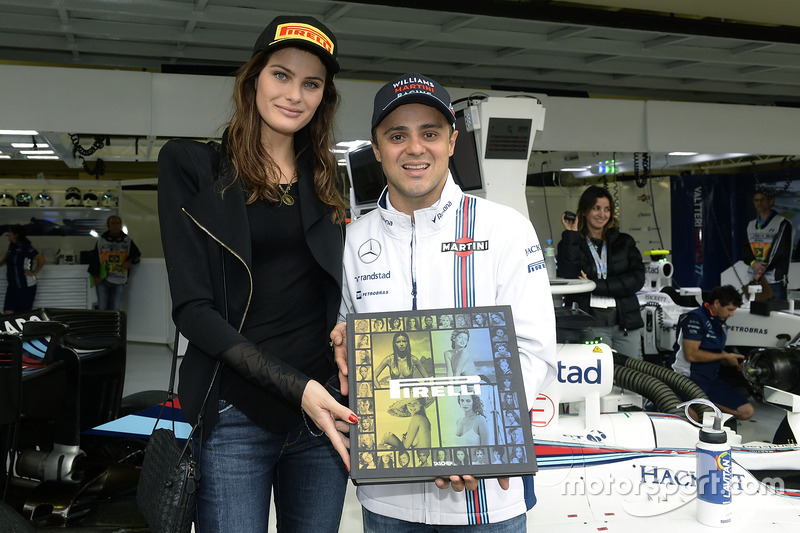 Isabeli Fontana, modelo con Felipe Massa, Williams