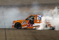 Il vincitore della gara Daniel Suarez, Kyle Busch Motorsports Toyota