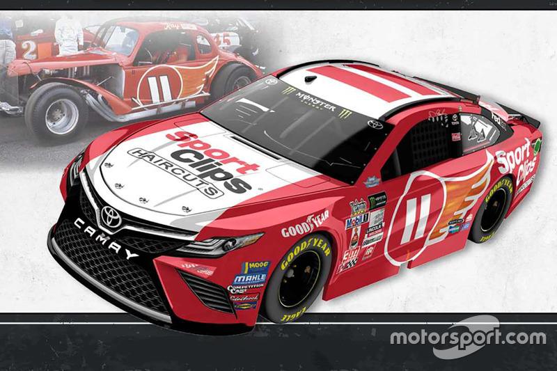 Throwback-Design: Denny Hamlin, Joe Gibbs Racing Toyota