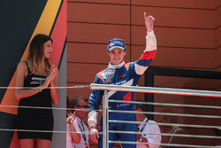 Podium: race winner Egor Orudzhev, SMP Racing by AVF