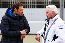 Alex Wurz, Williams coach en voorzitter GPDA met Pat Symonds, Williams Chief Technical Officer