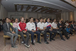 (Izq-der) Nicolas Prost, Rebellion Racing; Sam Bird, AF Corse; Bruno Senna, RGR Sport; Loic Duval, A