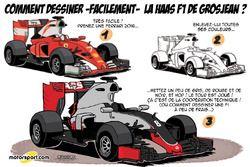 L'humeur de Cirebox - Comment dessiner la Haas de Romain Grosjean?