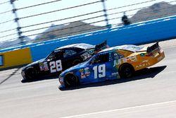 Kyle Busch, Joe Gibbs Racing Toyota and Dakoda Armstrong, Toyota