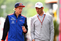 Brendon Hartley, Scuderia Toro Rosso y Alexander Wurz Williams Coach de pilotos