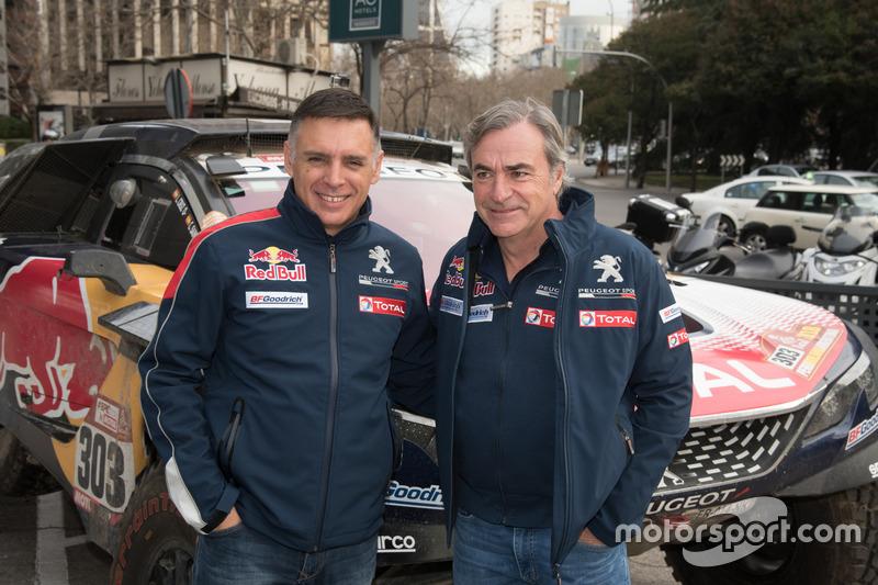 Lucas Cruz navigátor és Carlos Sainz