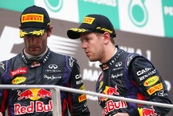 Winner Sebastian Vettel, Red Bull Racing, second place Mark Webber, Red Bull Racing