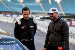 Helio Castroneves, Jerome Galpin, NASCAR Whelen Euroseries CEO