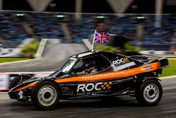 David Coulthard of Team Great Britain driving the ROC Car