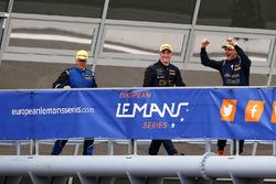 GTE third place #80 Ebimotors Porsche 911 RSR: Fabio Babini, Riccardo Pera, Raymond Narac