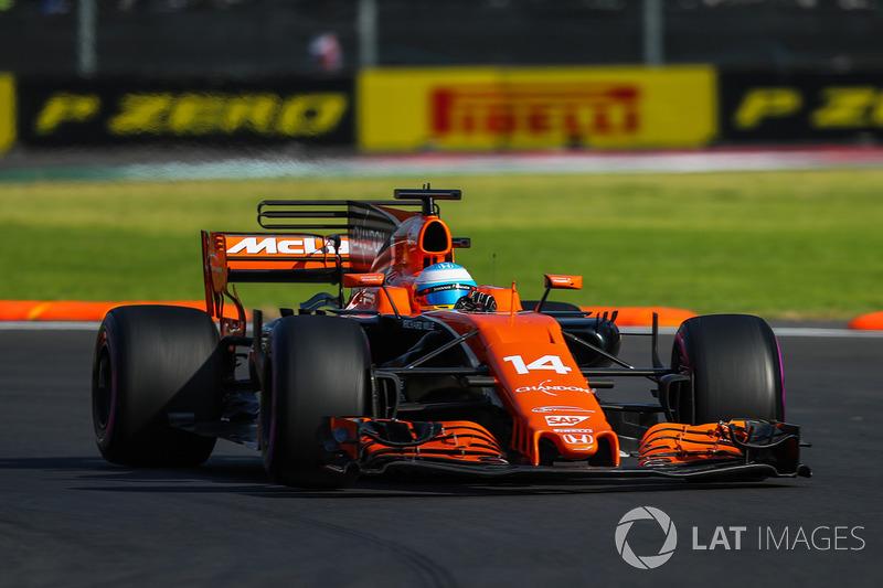 18º Fernando Alonso, McLaren MCL32 (sancionado con 20 posiciones)