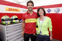 Monika Schreiner, LGT Group, mit Lucas Di Grassi, Audi Sport ABT Schaeffler