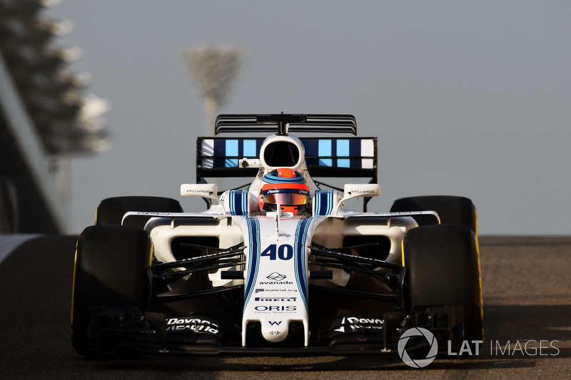 Pruebas con Williams en Abu Dhabi 2017