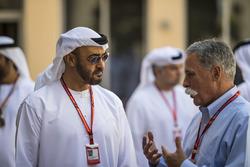 HH General Sheikh Mohammed bin Zayed bin Sultan Al Nahyan, Principe ereditario di Abu Dhabi  e Chase Carey, Chief Executive Officer ed Executive Chairman del Formula One Group