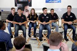 NASCAR 2018 piloto por la diversidad Clase de desarrollo de pilotos, Ernie Francis Jr., Ryan Vargas,