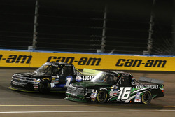 Ryan Truex, Hattori Racing Enterprises Toyota, Jordan Anderson, Rick Ware Motorsports Chevrolet