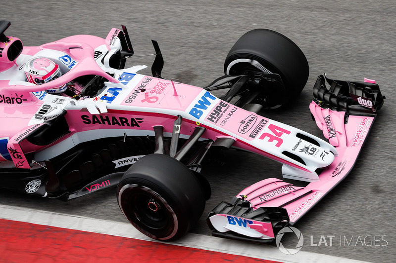 Nikita Mazepin, Force India VJM11, entra a pits