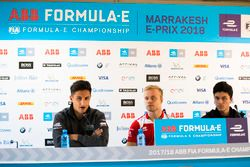 Mitch Evans, Jaguar Racing, Felix Rosenqvist, Mahindra Racing, and Michael Benyahia, Venturi Formula