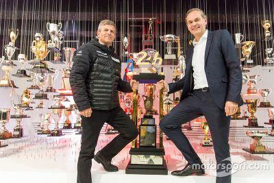 24 Hours of Le Mans trophy arrival at Porsche Museum