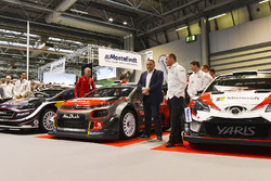The Citroen WRC team, including Kris Meeke, Craig Breen and Yves Matton